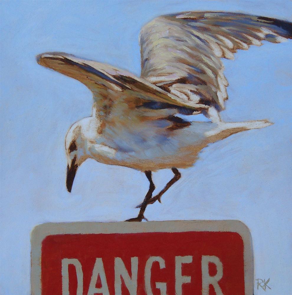 """Dancing on the Edge of Danger"" original fine art by Rita Kirkman"