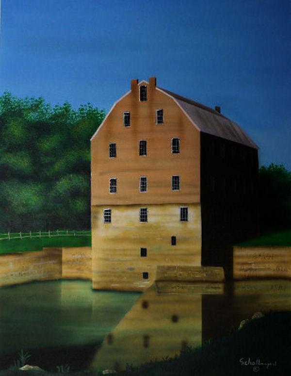 """Bollinger Mill"" original fine art by Fred Schollmeyer"