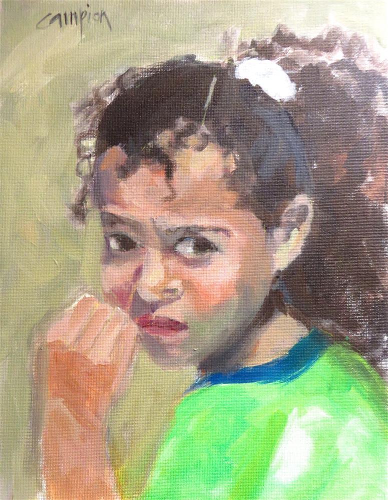 """""""785 Worried"""" original fine art by Diane Campion"""