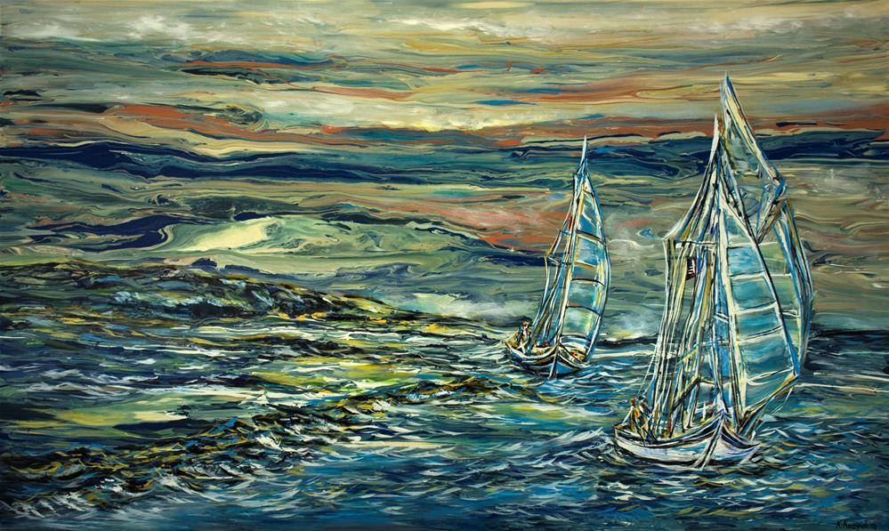 """Coastal Travel"" original fine art by Khrystyna Kozyuk"