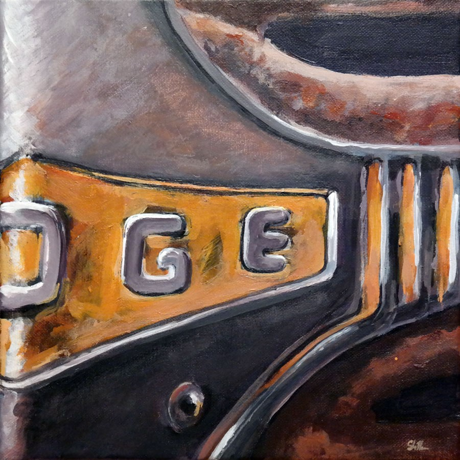 """1193 Dodge Van"" original fine art by Dietmar Stiller"
