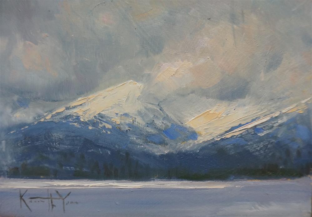 """""""A Break in the Weather """" original fine art by Kenneth Yarus"""