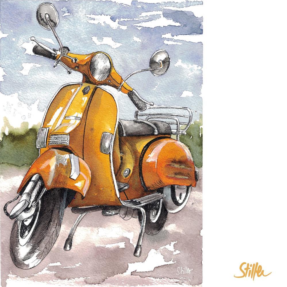 """3568 Vecchia Vespa"" original fine art by Dietmar Stiller"