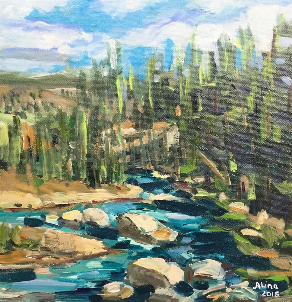 """""""Lamar River View"""" original fine art by Alina Vidulescu"""