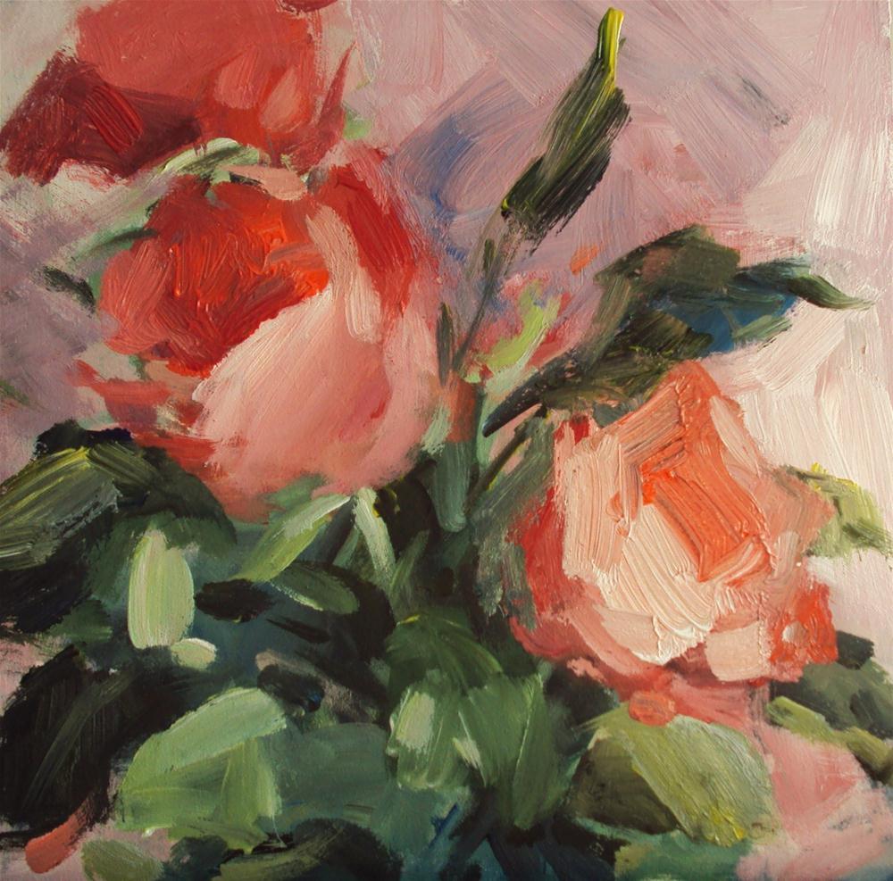 """""""Rose buds"""" original fine art by Parastoo Ganjei"""