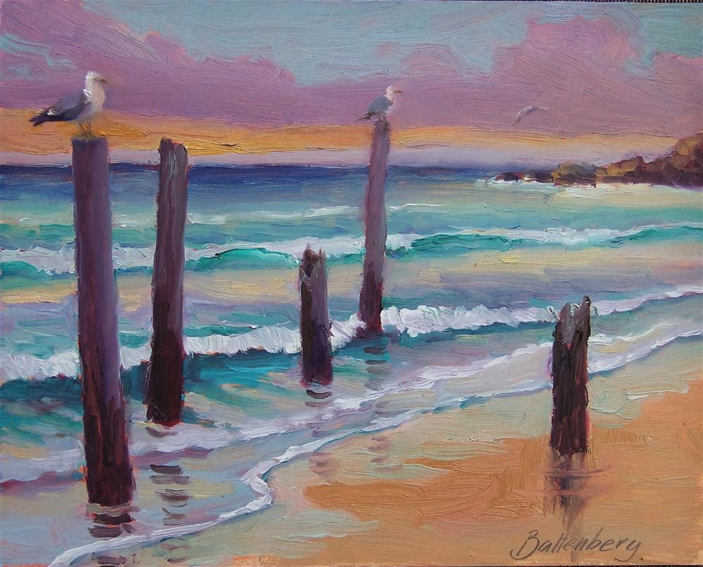 """Seagul Stands"" original fine art by Mike Battenberg"
