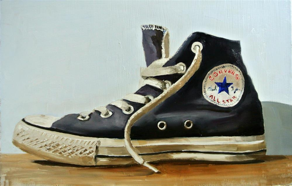 """Baseball Boot 1"" original fine art by James Coates"