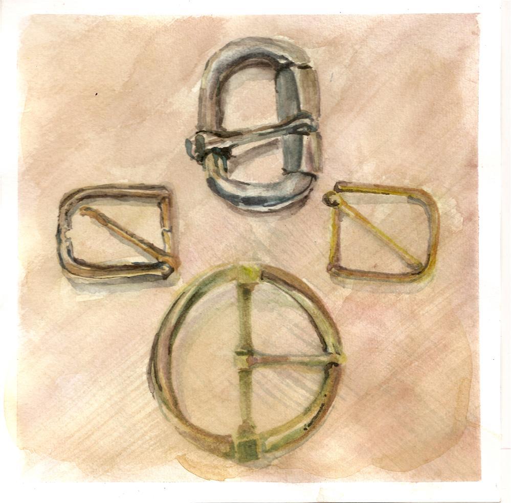 """Buckles"" original fine art by Jean Krueger"