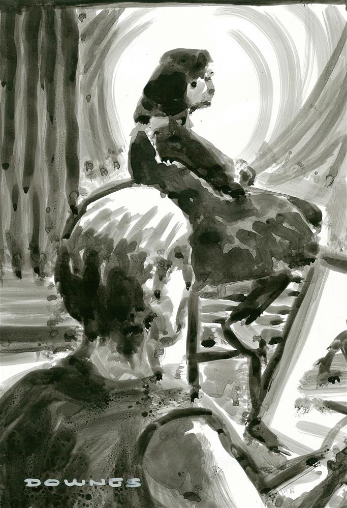 """312 ARTIST & MODEL 7"" original fine art by Trevor Downes"