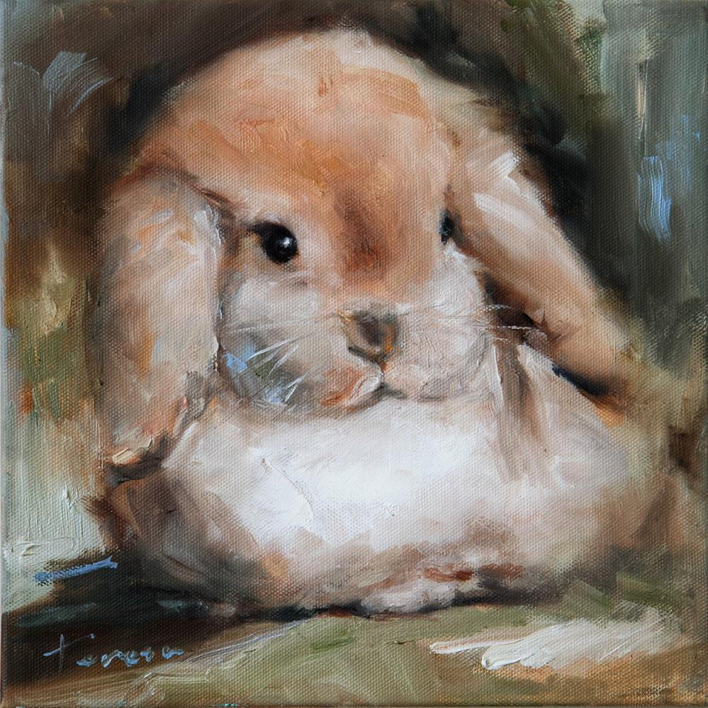 """Bunny"" original fine art by Teresa Yoo"
