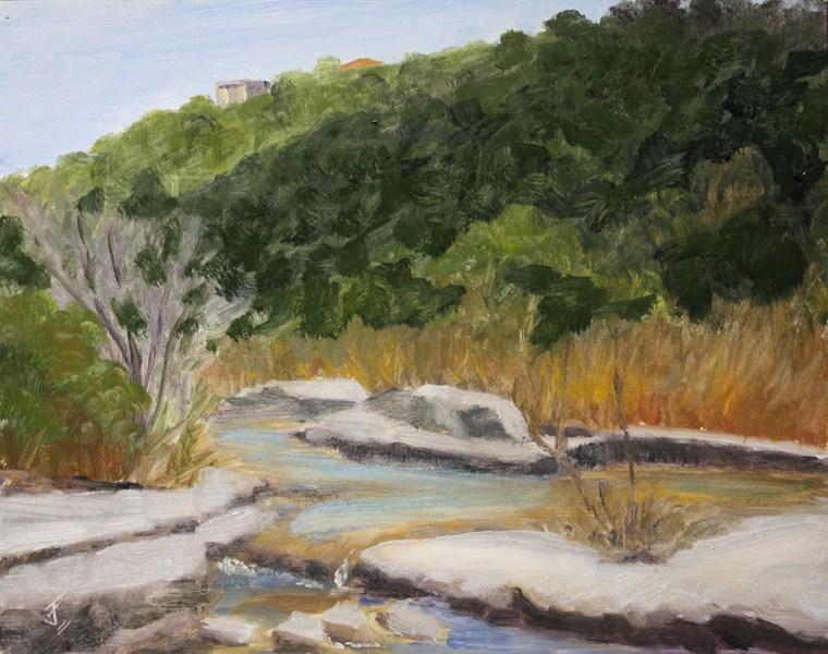 """The Falls"" original fine art by Jane Frederick"
