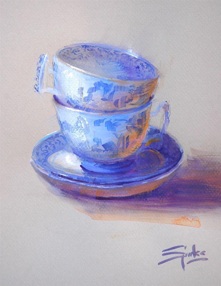 """Spode"" original fine art by Johanna Spinks"