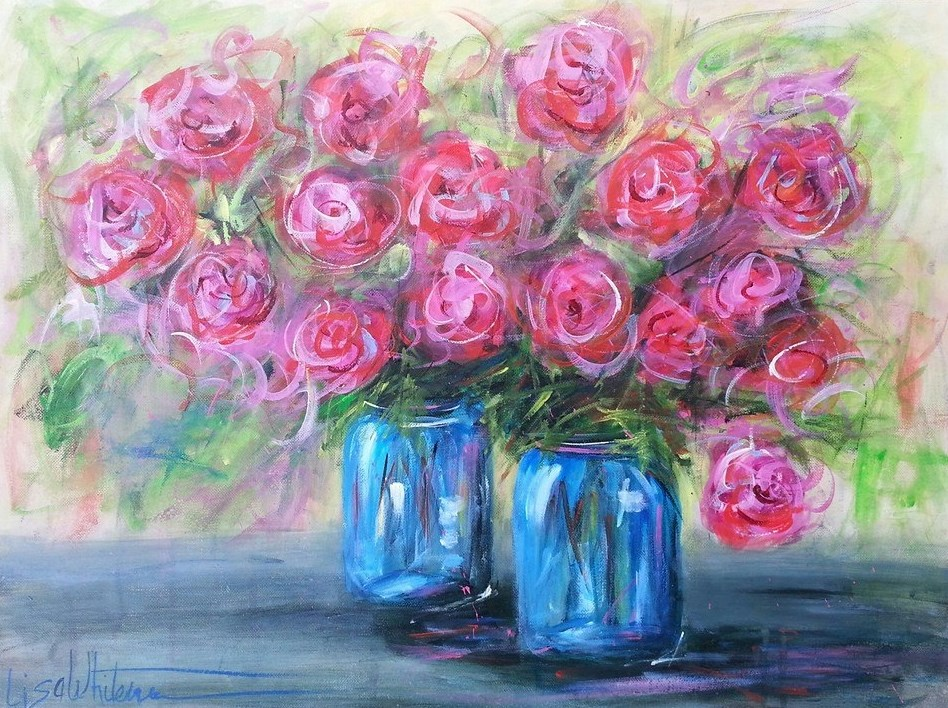 """7 - Teresa B"" original fine art by Lisa Rogers"