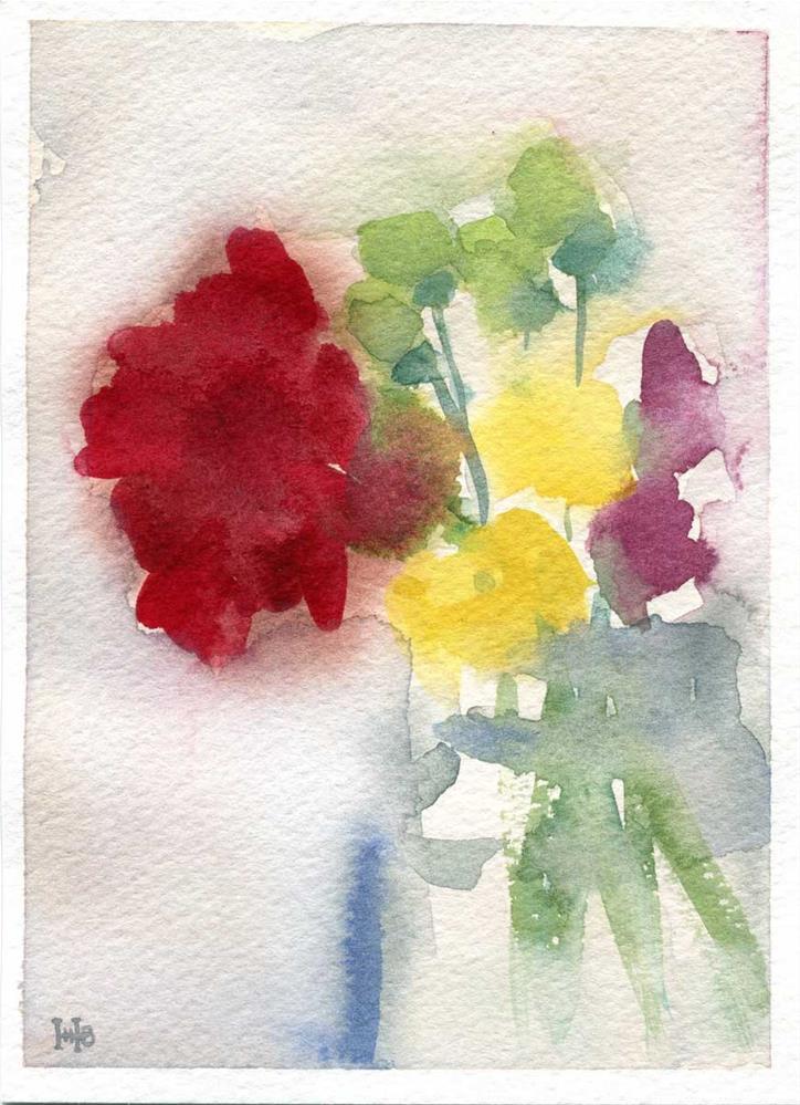 """""""Just Add Red"""" original fine art by Heather Bennett"""