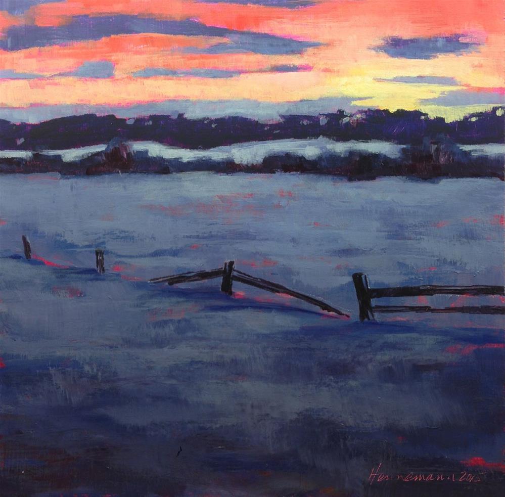 """""""Dusk or Dawn"""" original fine art by Eileen Hennemann"""