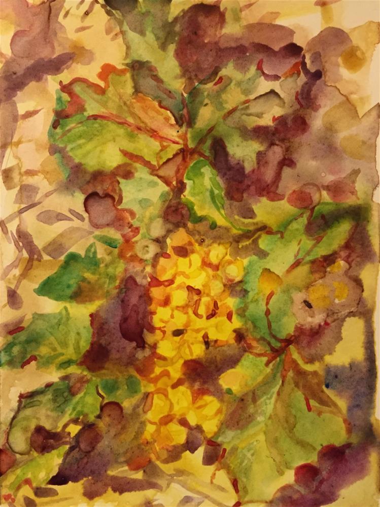 """Oregon Grape."" original fine art by Jean Krueger"
