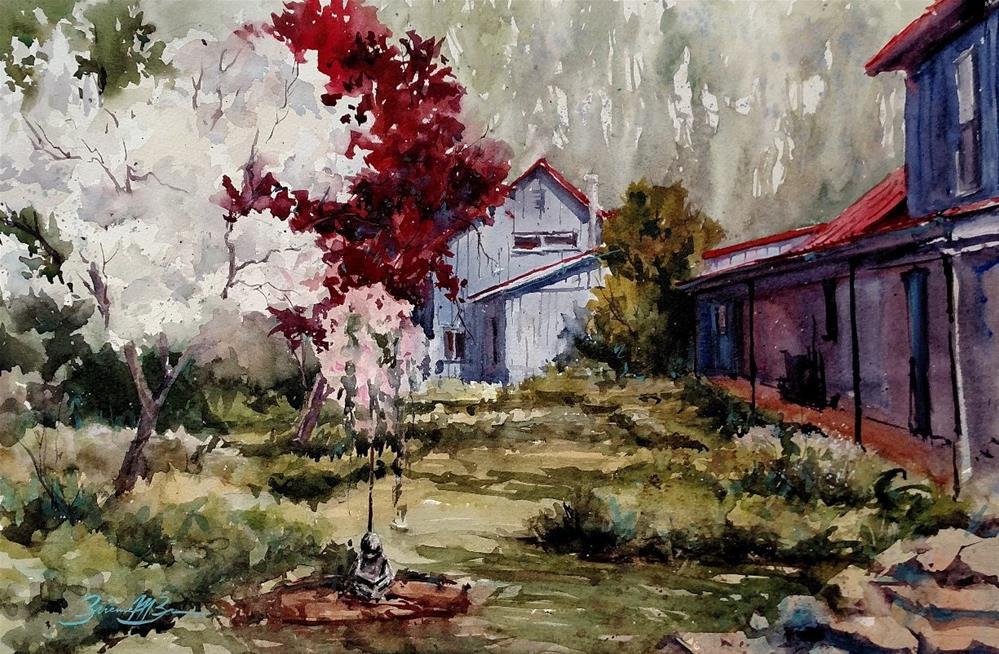 """""""Spring Garden"""" original fine art by Brienne M Brown"""