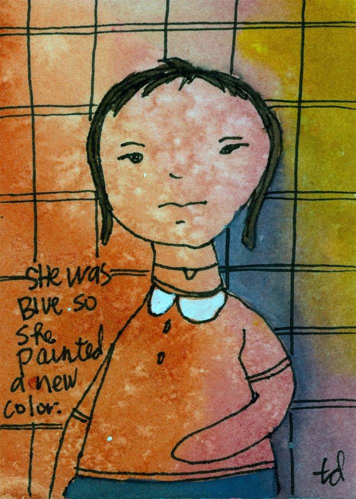 """She was Blue"" original fine art by Tonya Doughty"