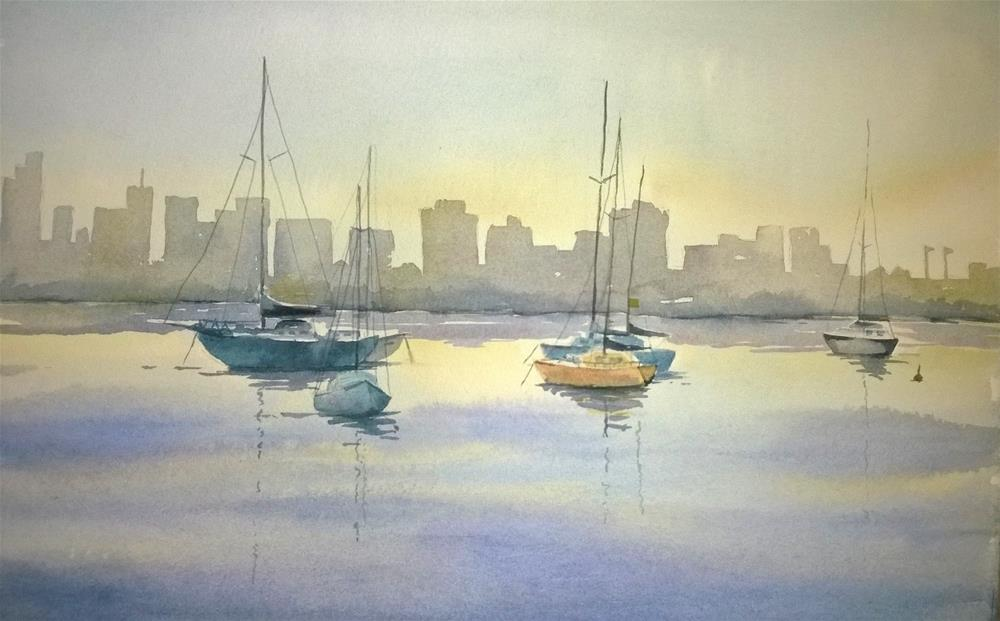 """Calm Harbor"" original fine art by Crisynda Buss"