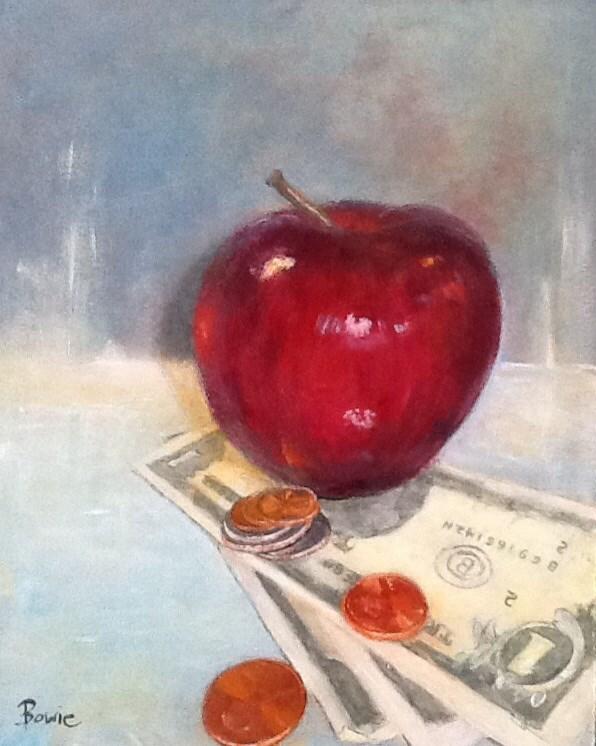 """Lunch Money"" original fine art by Maureen Bowie"