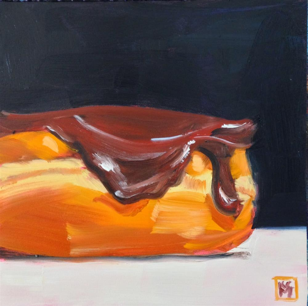 """Extra Chocolate Frosting, 6x6 Inch Oil Painting by Kelley MacDonald"" original fine art by Kelley MacDonald"