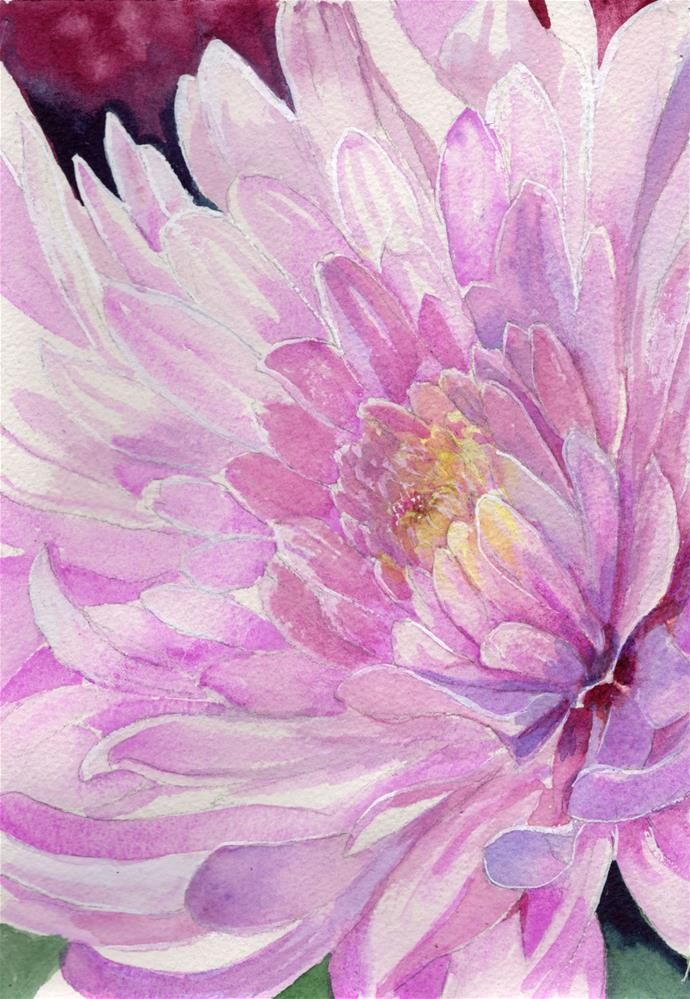 """""""Mum Flower"""" original fine art by Bunny Griffeth"""