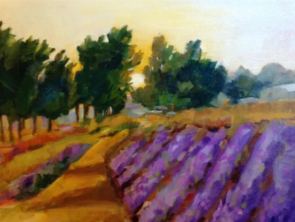 """Veiled Violet"" original fine art by Libby Anderson"