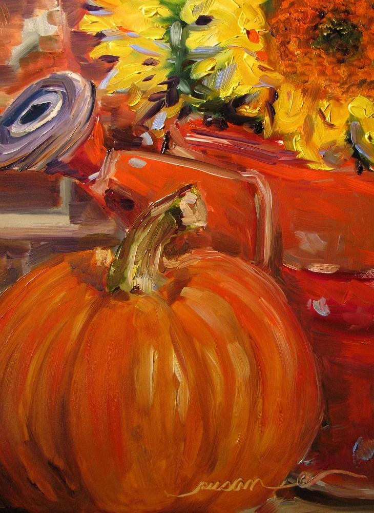 """Momma's front porch"" original fine art by Susan Elizabeth Jones"