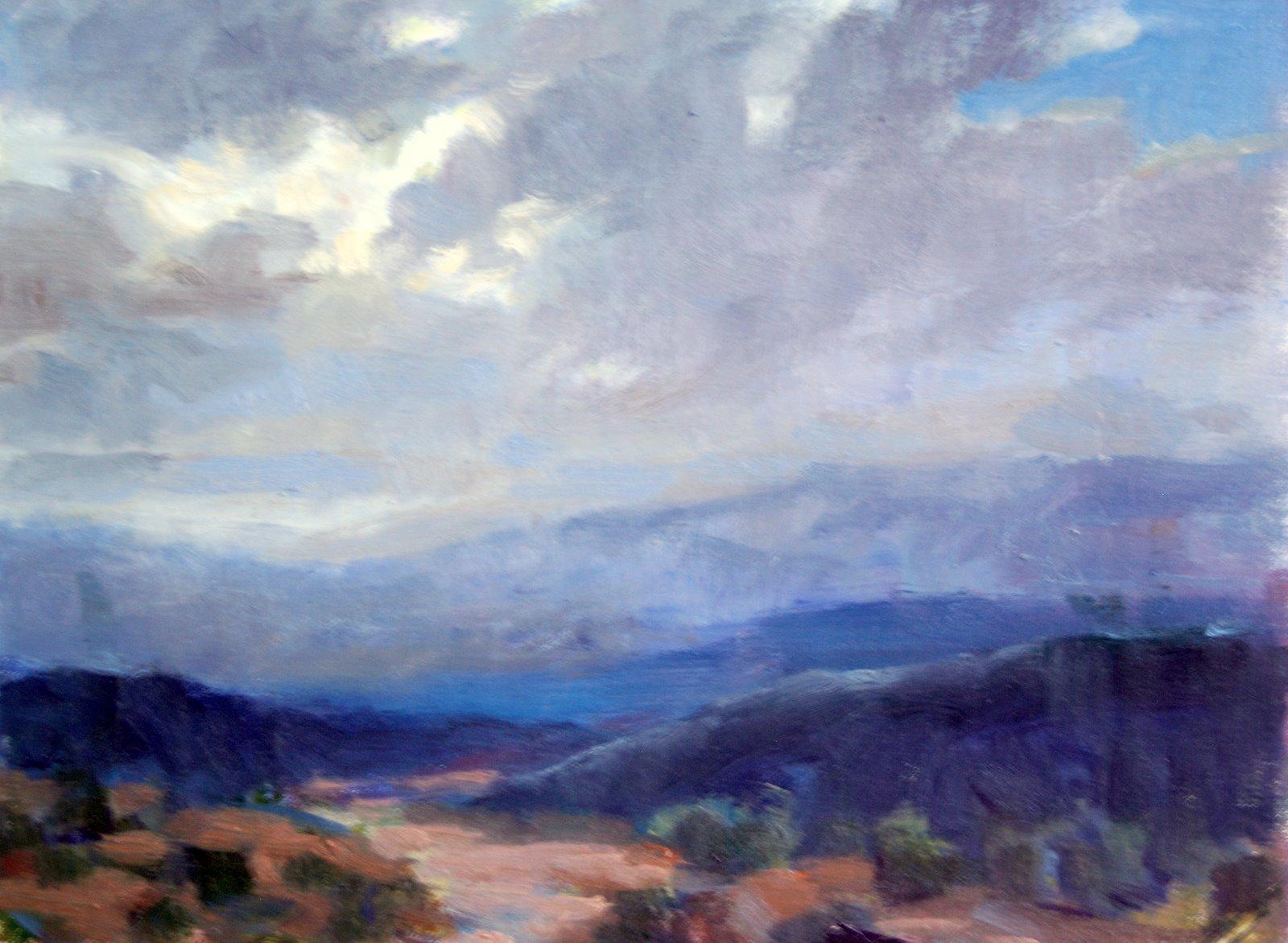 """Stormy Sky in Tucson, AZ"" original fine art by Julie Ford Oliver"