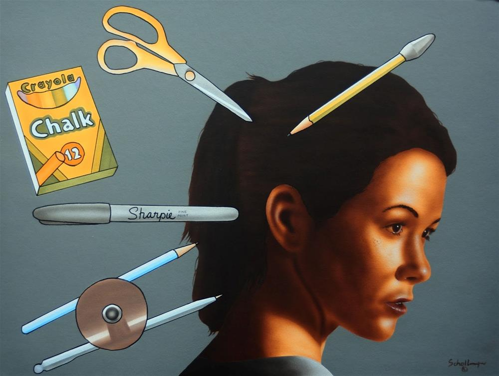 """I Know!  We'll Do Arts & Crafts!"" original fine art by Fred Schollmeyer"