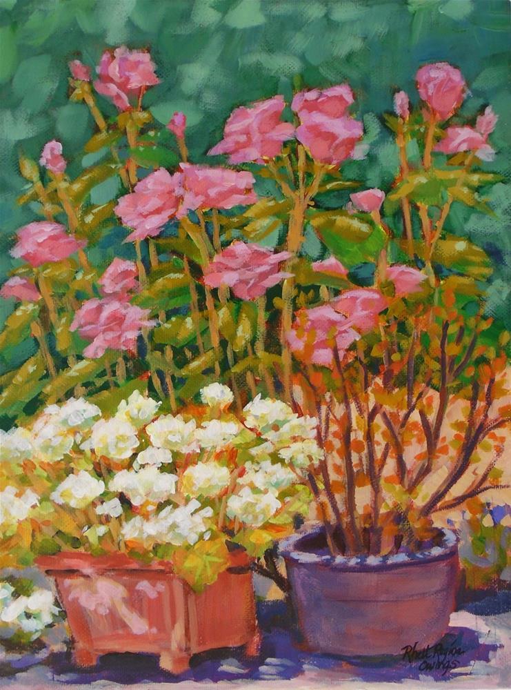 """""""Outside My Studio Window"""" original fine art by Rhett Regina Owings"""
