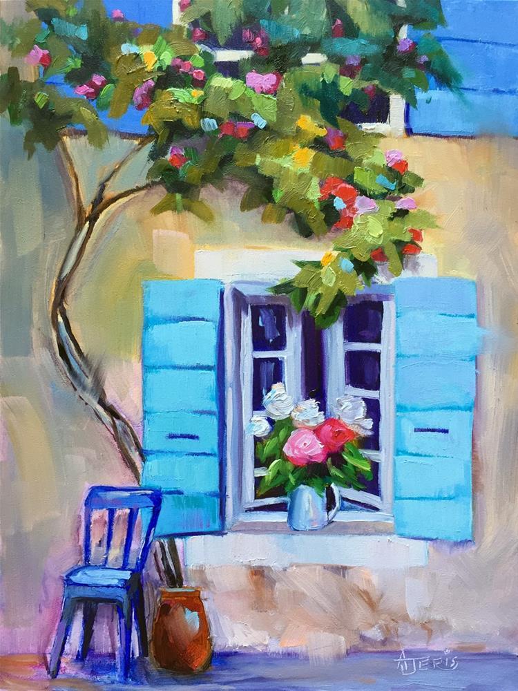 """""""Flowers in the Window"""" original fine art by Andrea Jeris"""