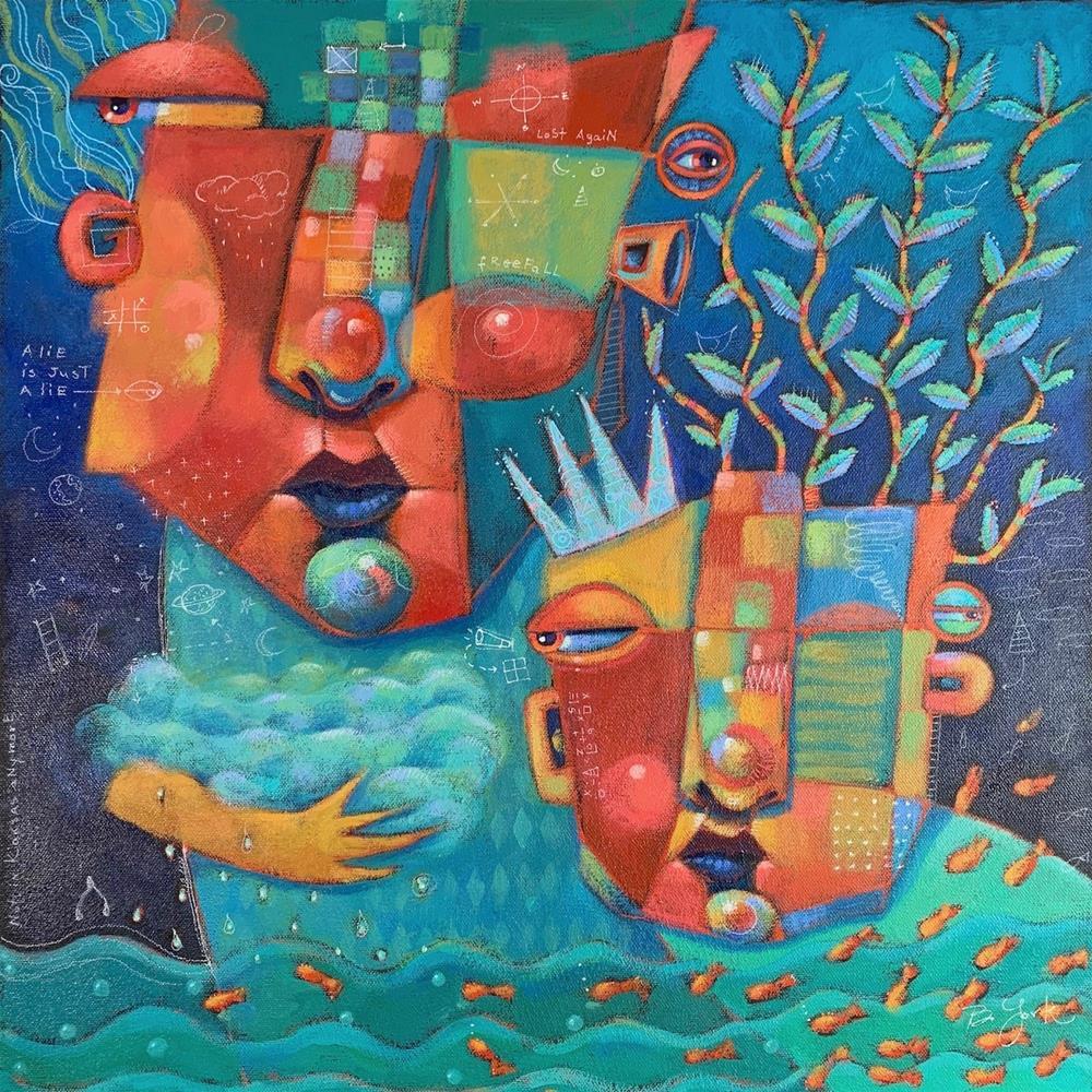 """Gaia, Guardian-In-Chief Of The Wild Side"" original fine art by Brenda York"
