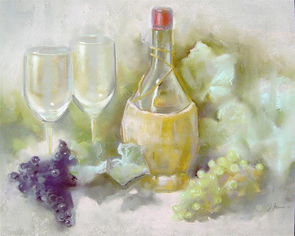 """""""Chianti and Grapes"""" original fine art by Jeannette Fromm"""