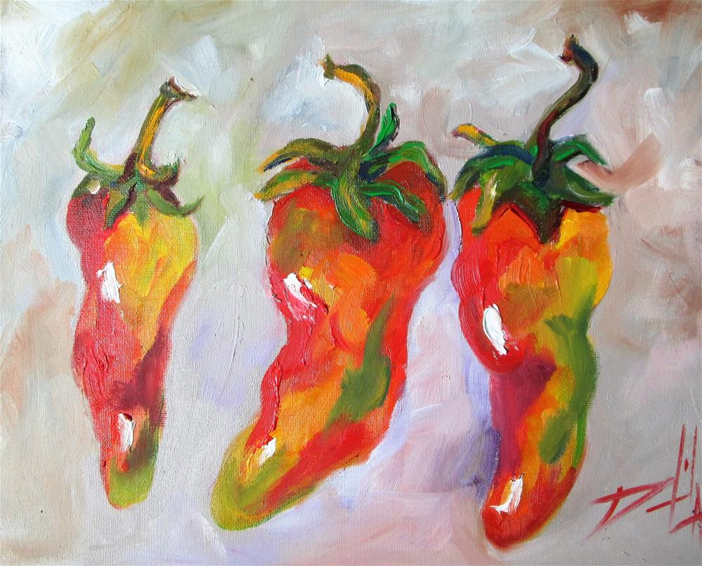 """Jalapeno Peppers"" original fine art by Delilah Smith"