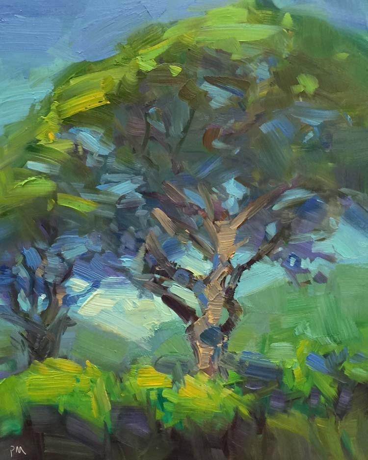 """""""In Search of Manoa Falls"""" original fine art by Patti McNutt"""