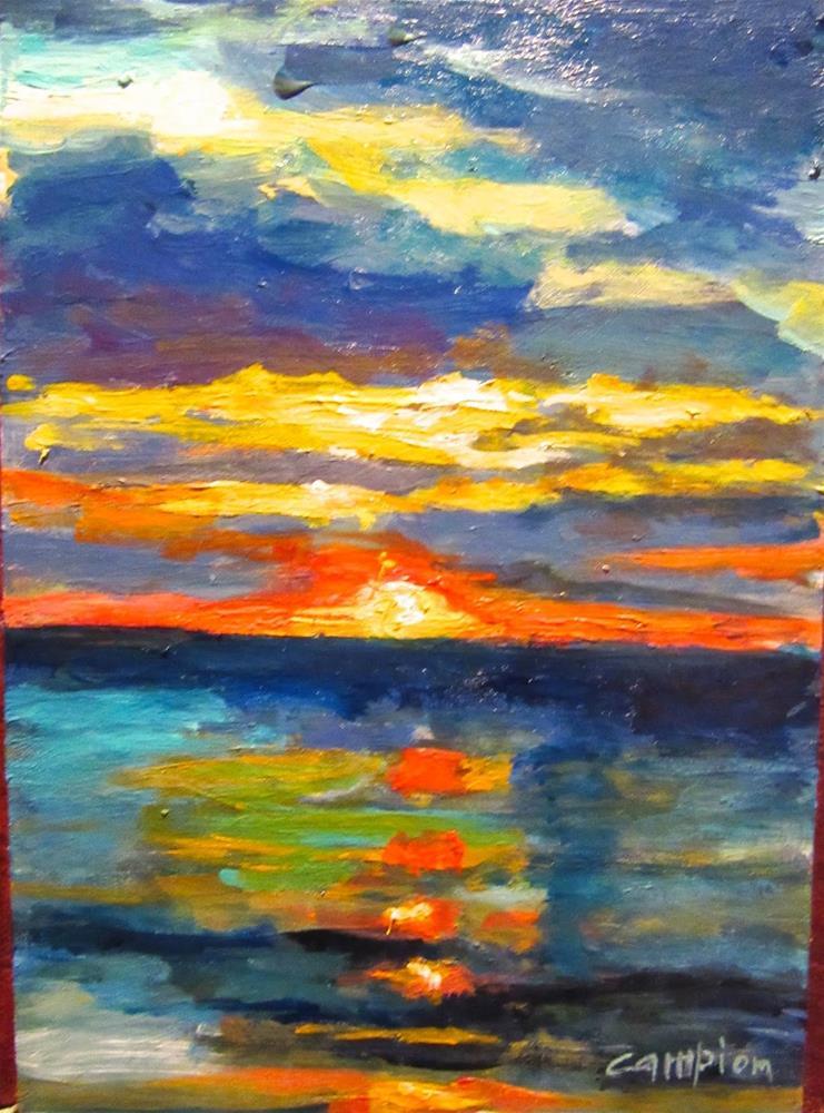"""501 Captiva Sunset"" original fine art by Diane Campion"