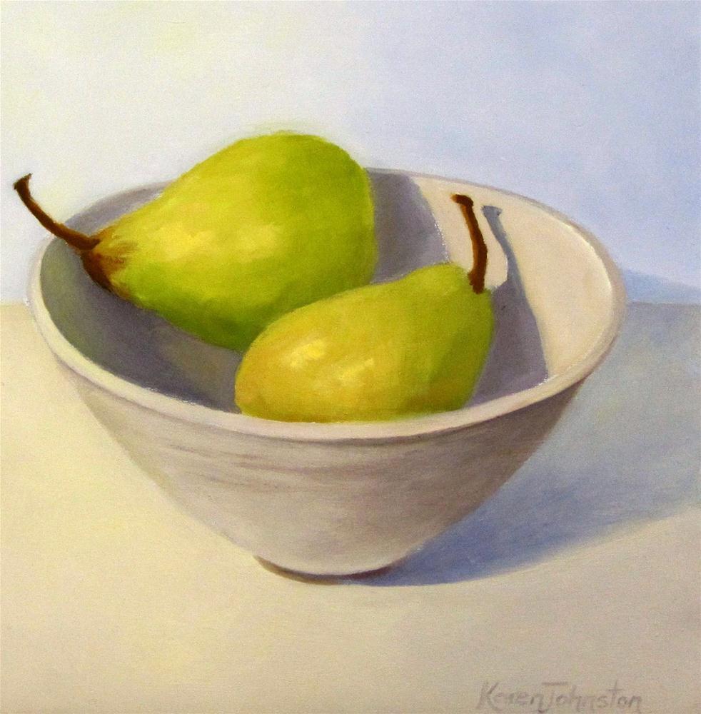 """Pair of Pears"" original fine art by Karen Johnston"