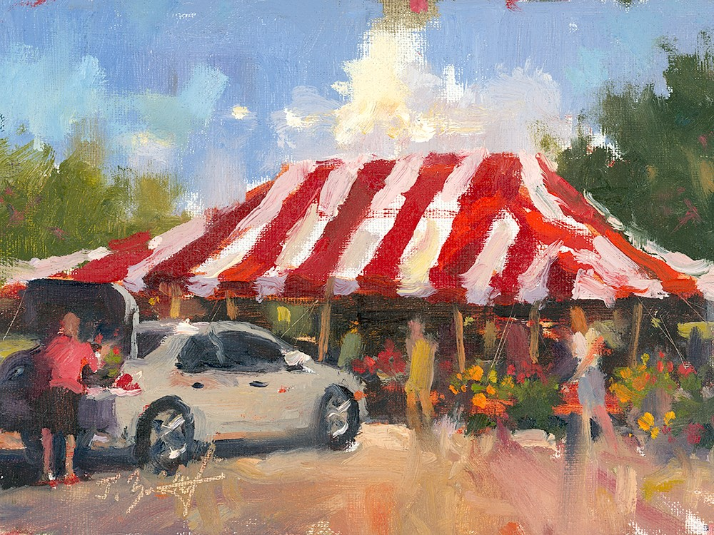 """""""Stopping For Blossoms"""" original fine art by Todd Zuithof"""