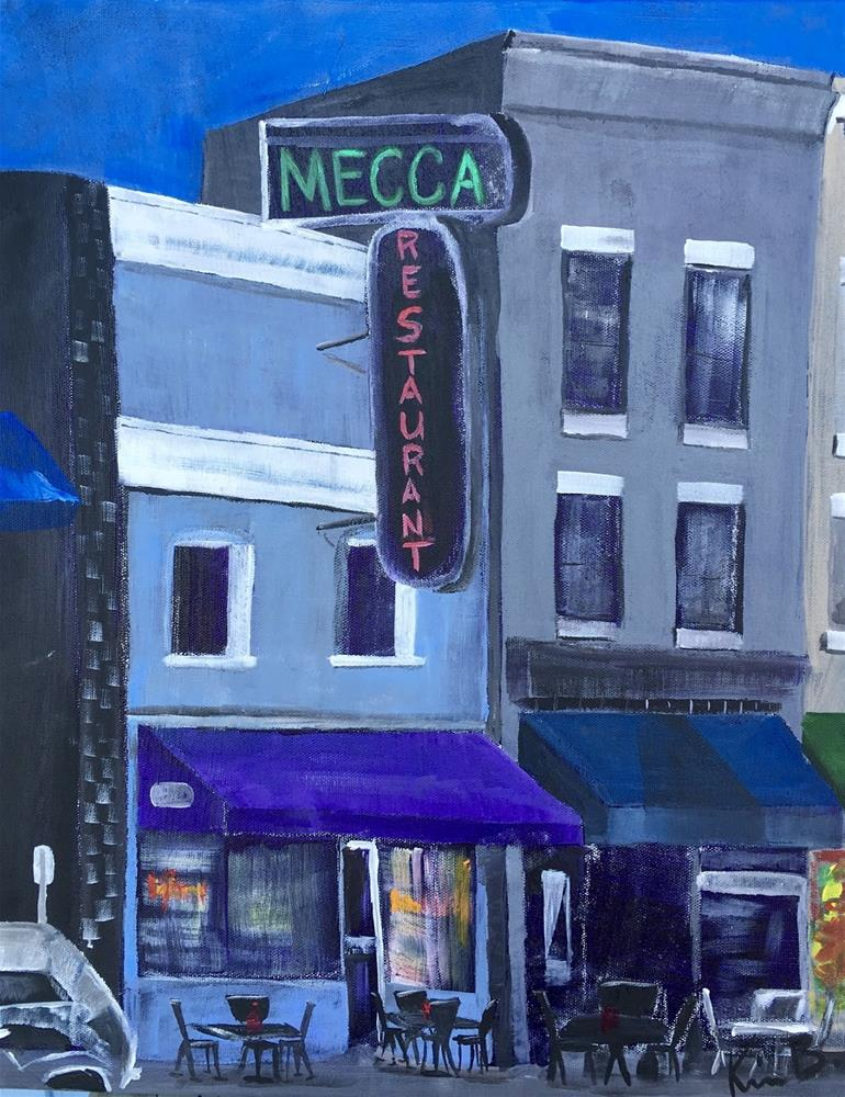 """""""Mecca Building #3 - 30 Paintings in 30 Days"""" original fine art by Kimberly Balentine"""