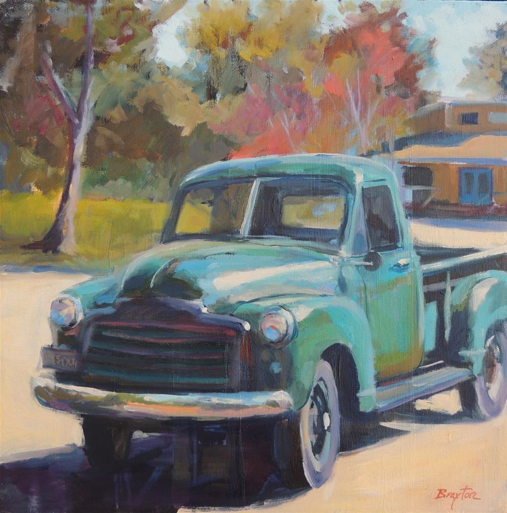 """""""Truckin"""" original fine art by Wendy Brayton"""