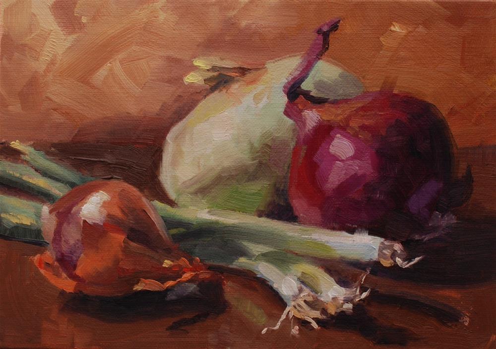 """The Allium Collection"" original fine art by Susan McManamen"