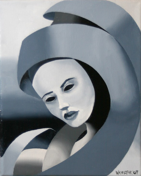"""""""Mark Webster - Gray Matter #1 - Abstract Grayscale Oil Painting"""" original fine art by Mark Webster"""