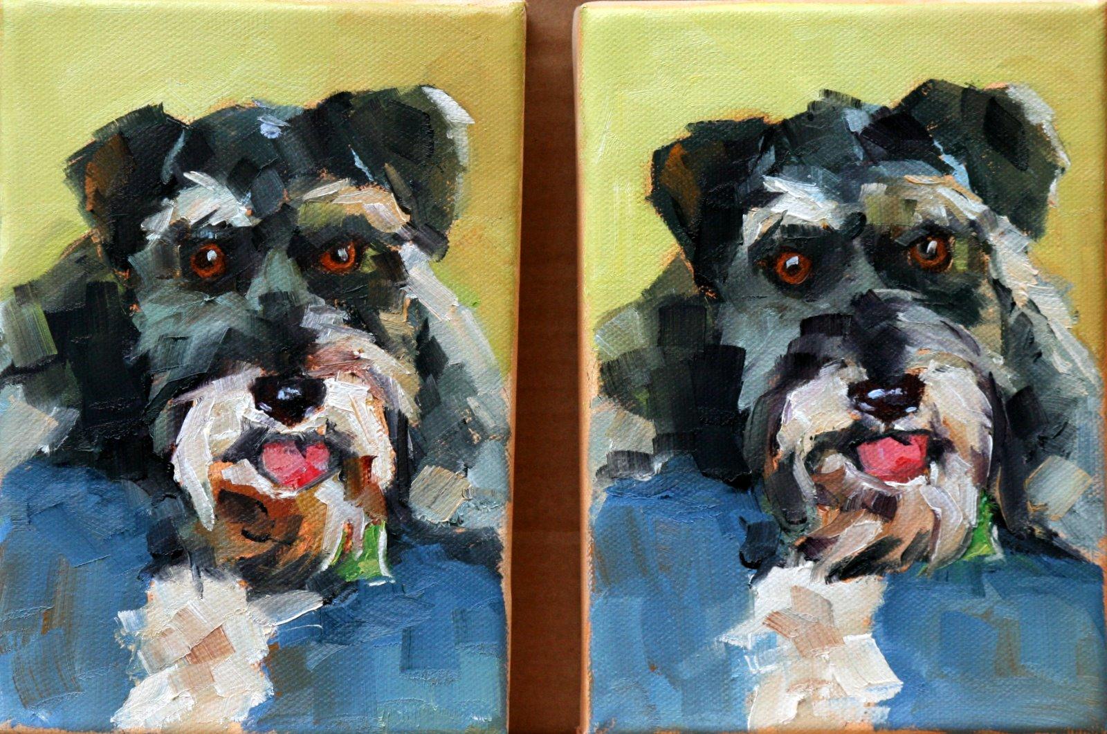 """Millie X Two"" original fine art by Carol Carmichael"