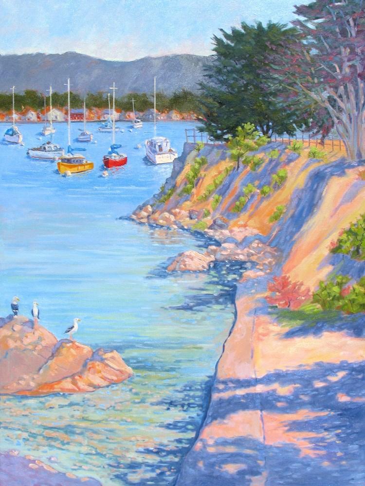 """Red and Yellow Sail Boats"" original fine art by Rhett Regina Owings"