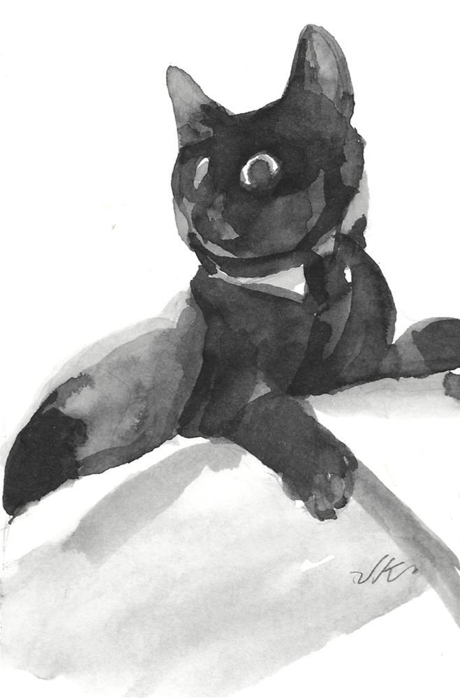 """Daily Cat 54"" original fine art by Jean Krueger"