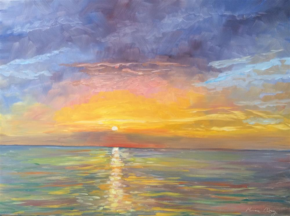 """Key West Sunset"" original fine art by Kim Clay"