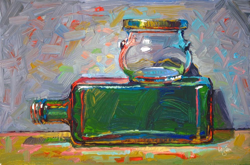 """""""Olive Oil and Some Kind of Jam or Jelly"""" original fine art by Raymond Logan"""