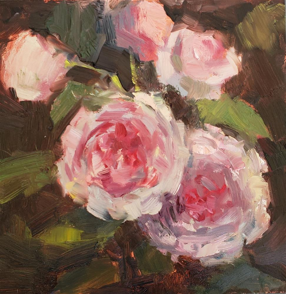"""""""Morning Roses"""" original fine art by Barbie Smith"""