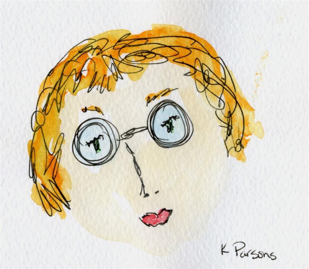 """The Librarian"" original fine art by Kali Parsons"